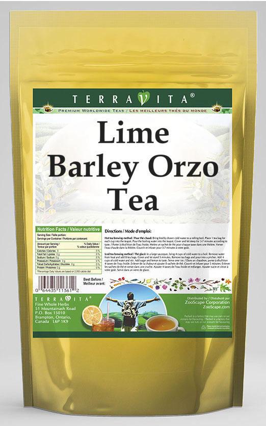 Lime Barley Orzo Tea