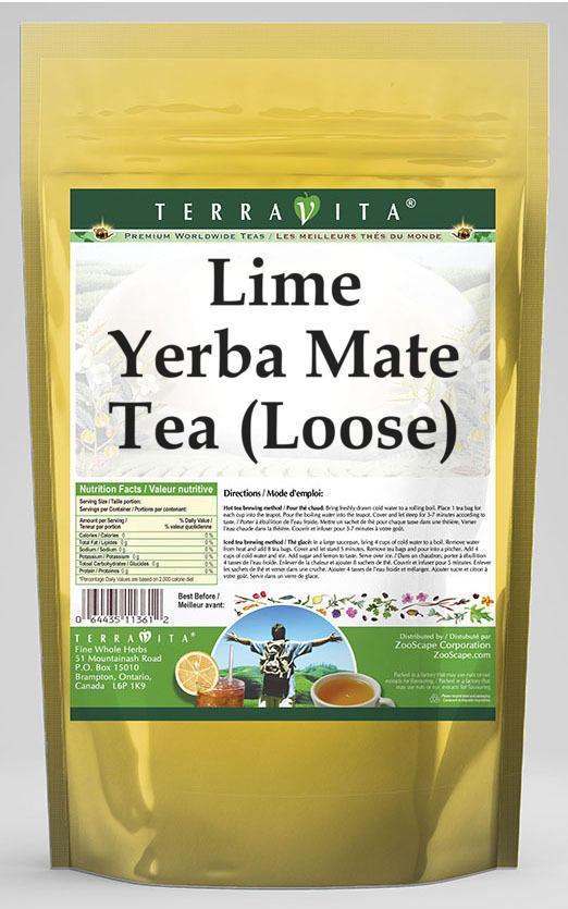 Lime Yerba Mate Tea (Loose)