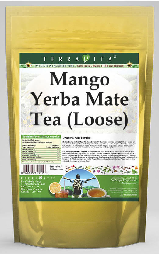 Mango Yerba Mate Tea (Loose)