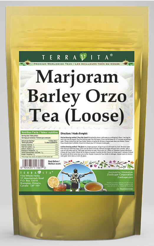 Marjoram Barley Orzo Tea (Loose)