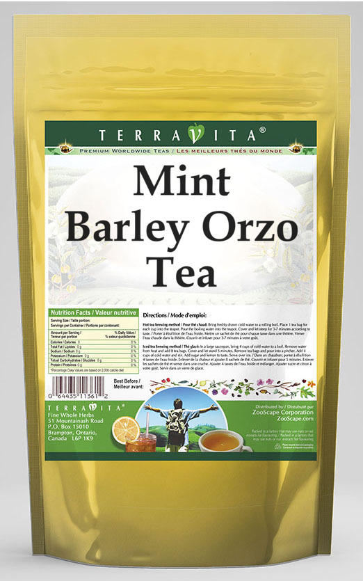 Mint Barley Orzo Tea