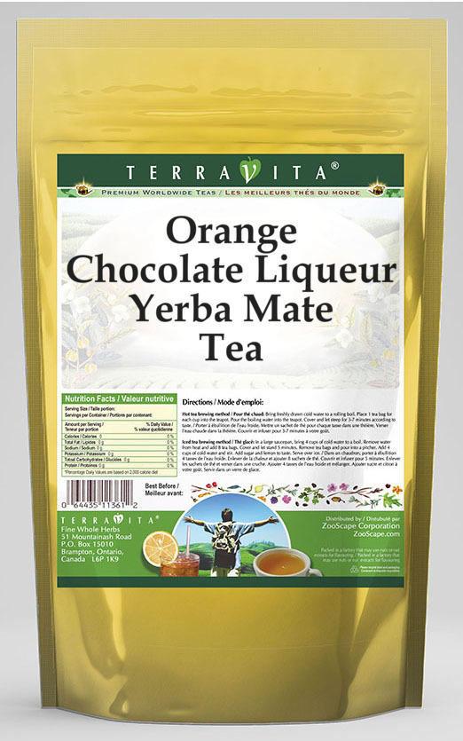 Orange Chocolate Liqueur Yerba Mate Tea