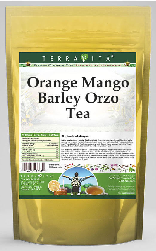Orange Mango Barley Orzo Tea