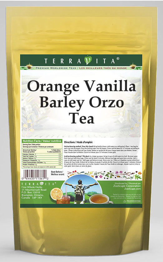 Orange Vanilla Barley Orzo Tea