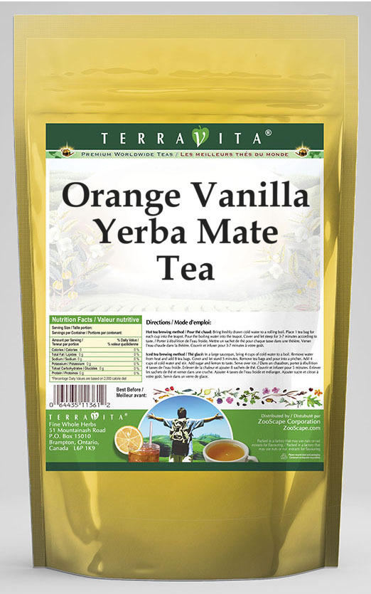 Orange Vanilla Yerba Mate Tea