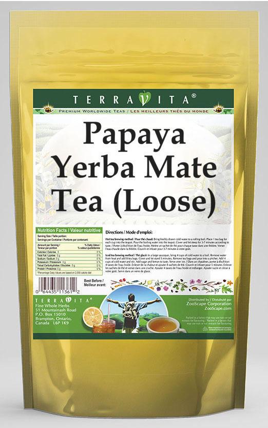 Papaya Yerba Mate Tea (Loose)