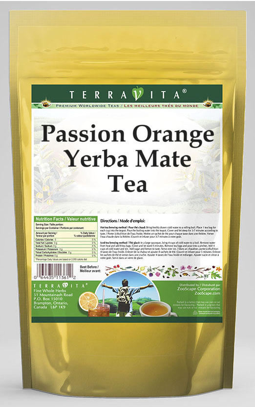 Passion Orange Yerba Mate Tea