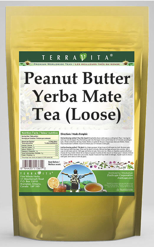 Peanut Butter Yerba Mate Tea (Loose)