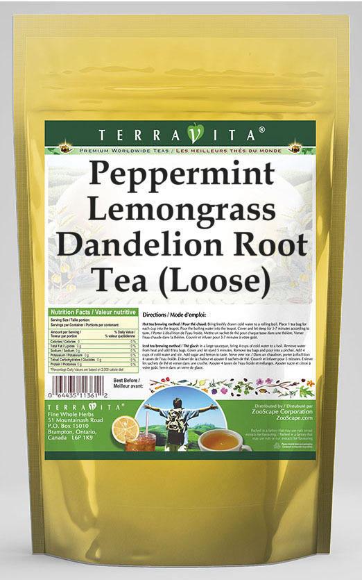 Peppermint Lemongrass Dandelion Root Tea (Loose)