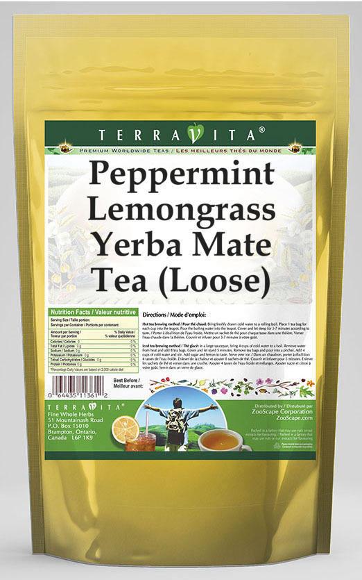Peppermint Lemongrass Yerba Mate Tea (Loose)