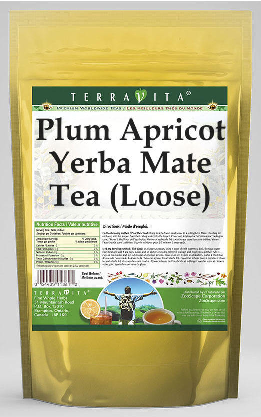 Plum Apricot Yerba Mate Tea (Loose)