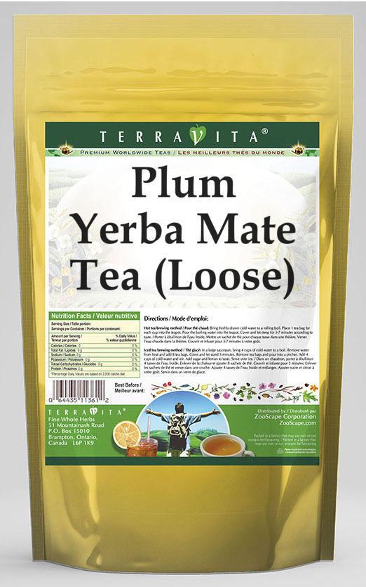 Plum Yerba Mate Tea (Loose)