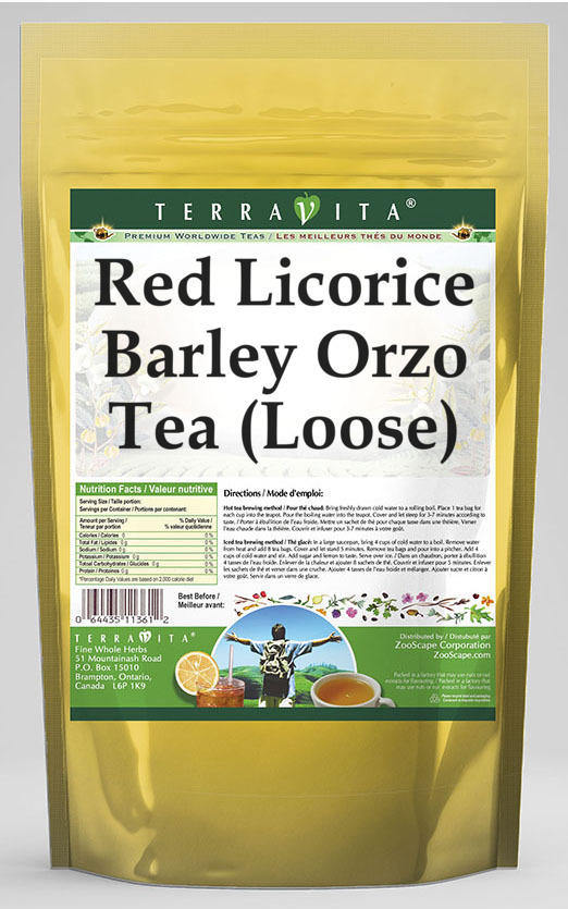 Red Licorice Barley Orzo Tea (Loose)