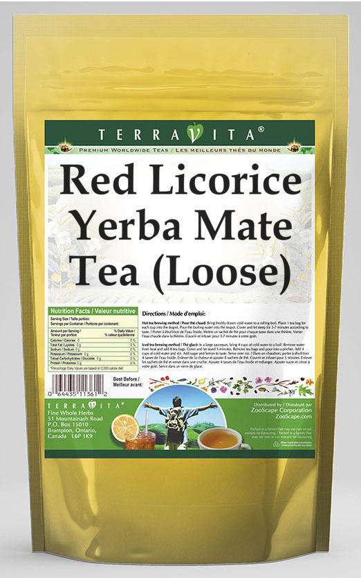 Red Licorice Yerba Mate Tea (Loose)
