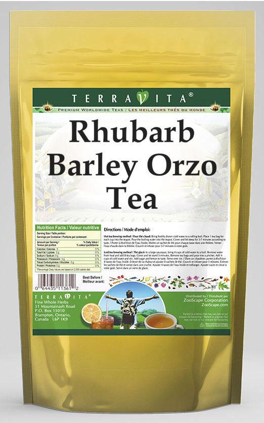 Rhubarb Barley Orzo Tea