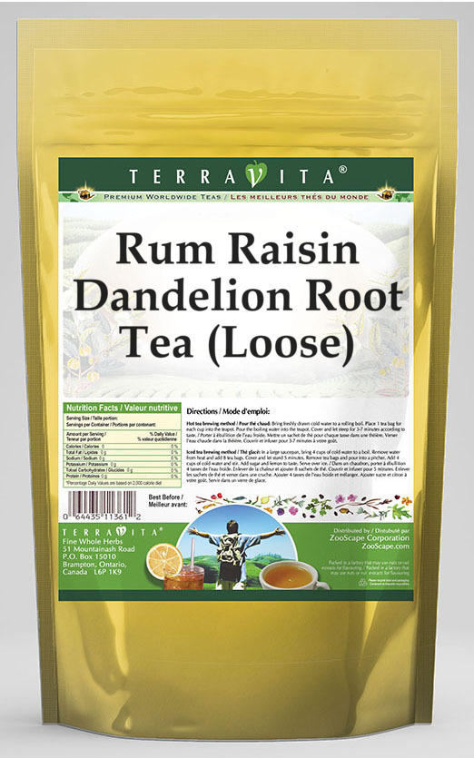Rum Raisin Dandelion Root Tea (Loose)
