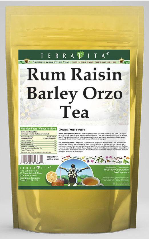 Rum Raisin Barley Orzo Tea