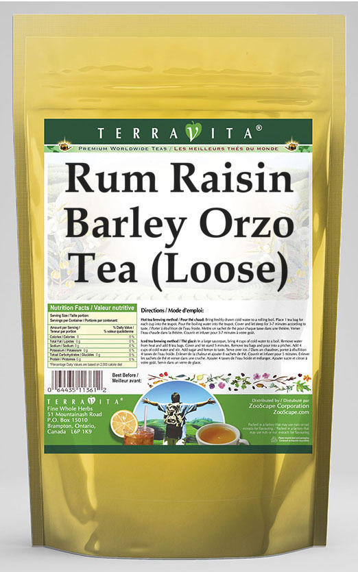 Rum Raisin Barley Orzo Tea (Loose)