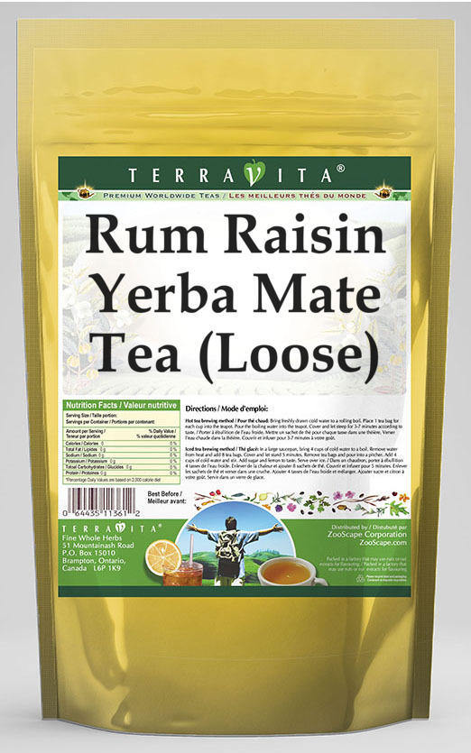 Rum Raisin Yerba Mate Tea (Loose)
