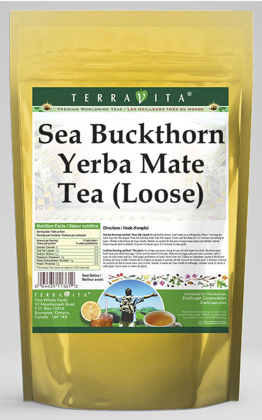 Sea Buckthorn Yerba Mate Tea (Loose)