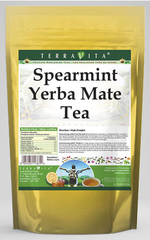 Spearmint Yerba Mate Tea
