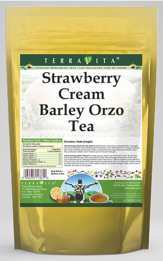 Strawberry Cream Barley Orzo Tea