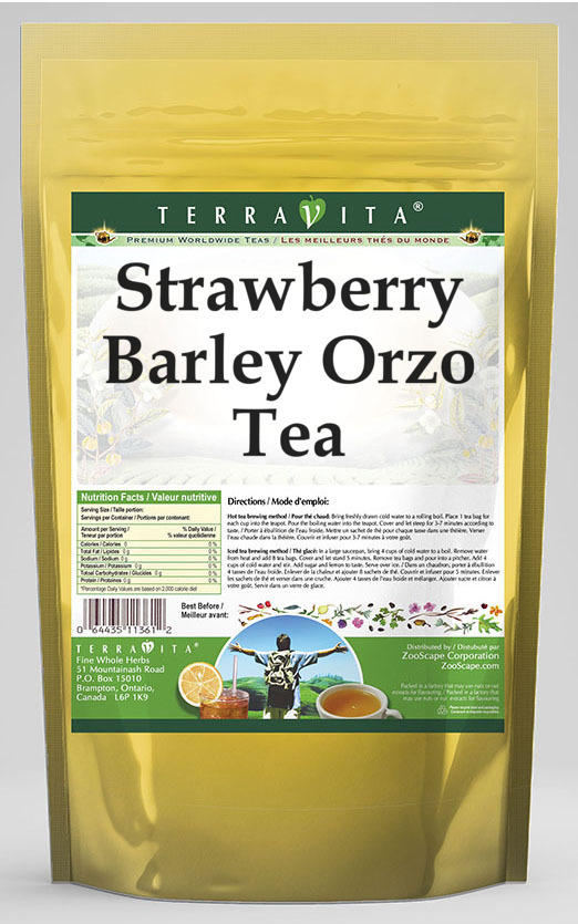 Strawberry Barley Orzo Tea
