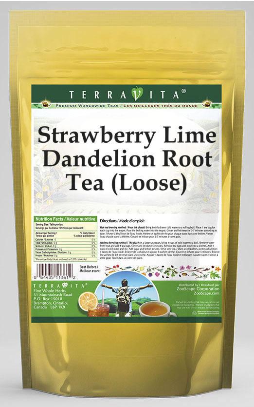 Strawberry Lime Dandelion Root Tea (Loose)