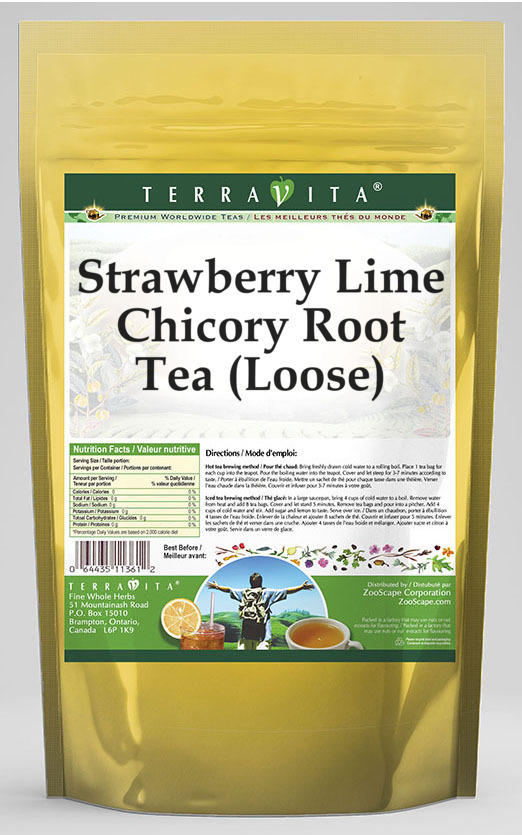 Strawberry Lime Chicory Root Tea (Loose)