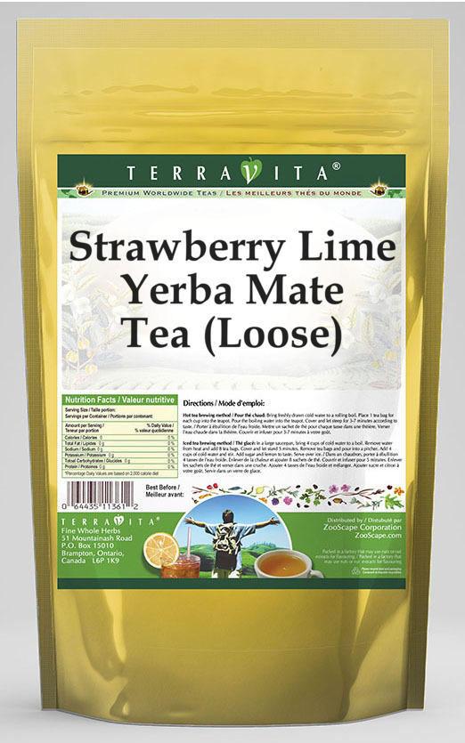Strawberry Lime Yerba Mate Tea (Loose)
