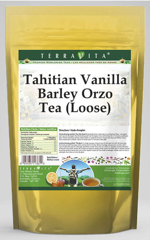 Tahitian Vanilla Barley Orzo Tea (Loose)