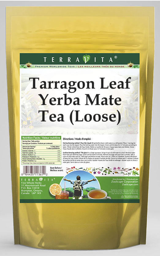 Tarragon Leaf Yerba Mate Tea (Loose)
