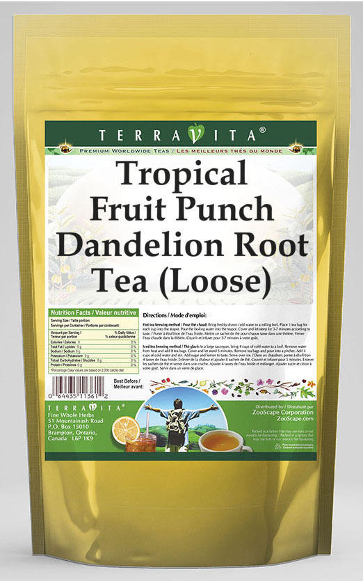 Tropical Fruit Punch Dandelion Root Tea (Loose)
