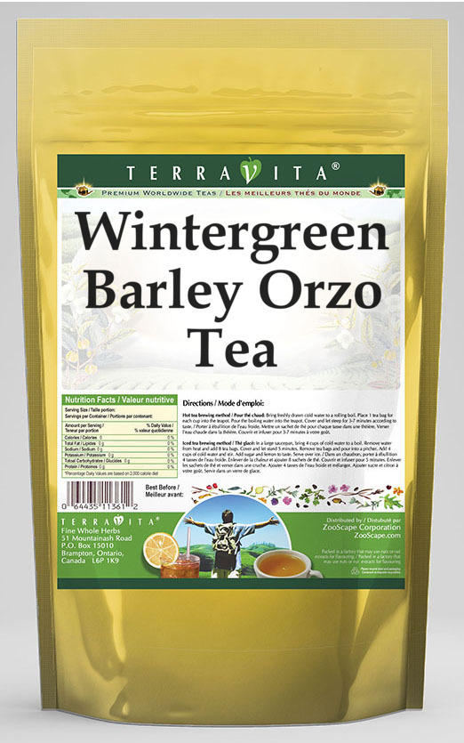 Wintergreen Barley Orzo Tea