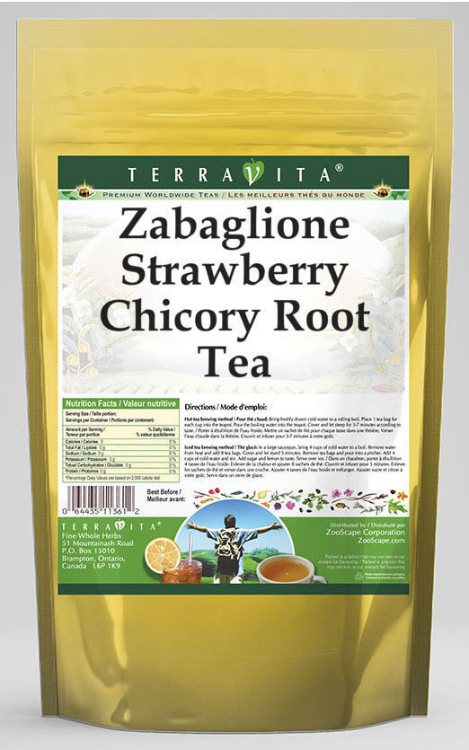 Zabaglione Strawberry Chicory Root Tea