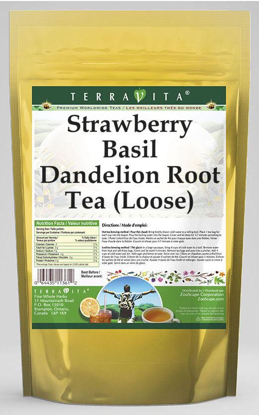 Strawberry Basil Dandelion Root Tea (Loose)