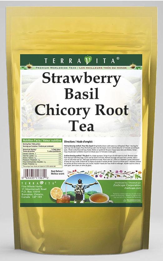 Strawberry Basil Chicory Root Tea