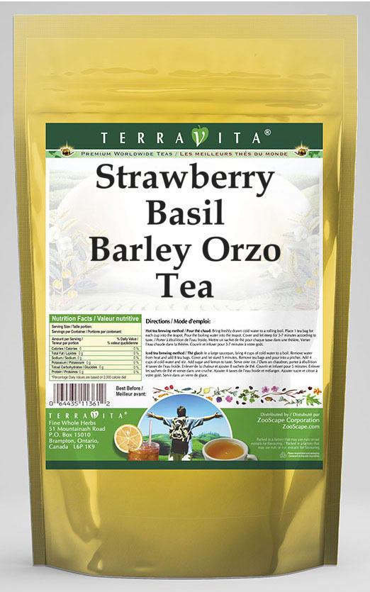 Strawberry Basil Barley Orzo Tea