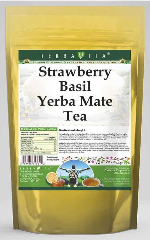 Strawberry Basil Yerba Mate Tea