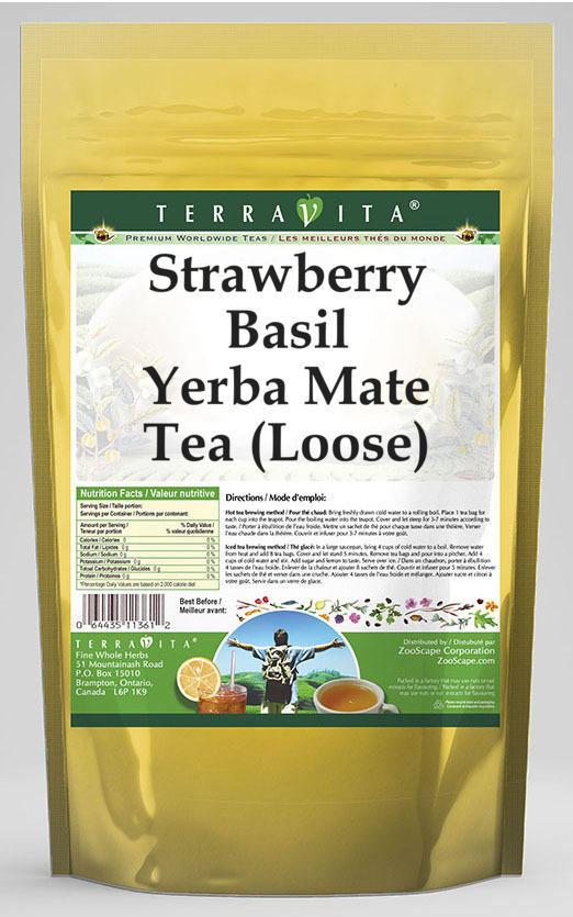 Strawberry Basil Yerba Mate Tea (Loose)