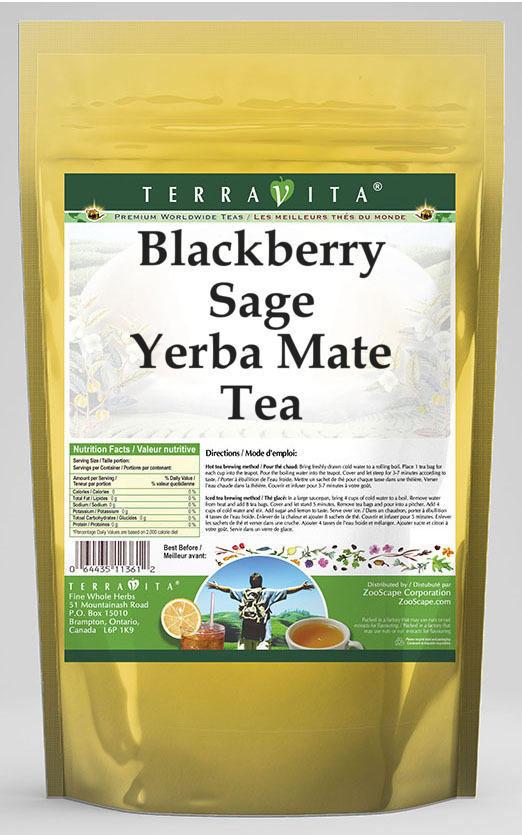 Blackberry Sage Yerba Mate Tea