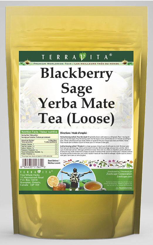 Blackberry Sage Yerba Mate Tea (Loose)