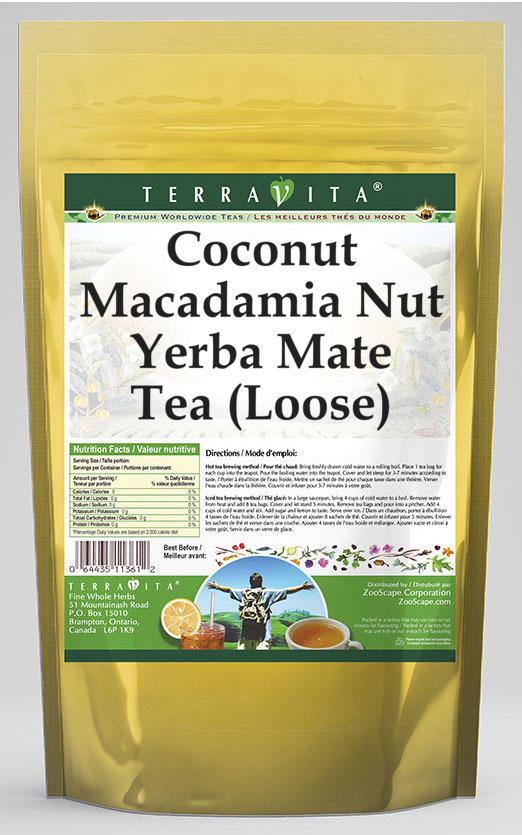 Coconut Macadamia Nut Yerba Mate Tea (Loose)