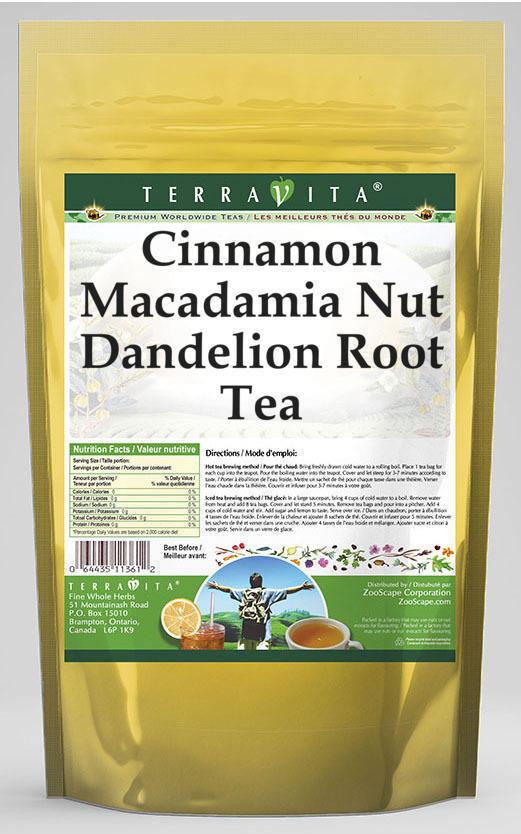 Cinnamon Macadamia Nut Dandelion Root Tea