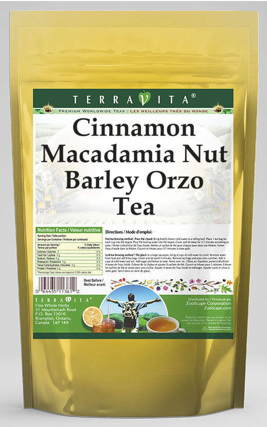 Cinnamon Macadamia Nut Barley Orzo Tea
