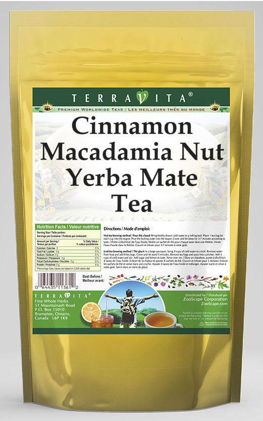 Cinnamon Macadamia Nut Yerba Mate Tea