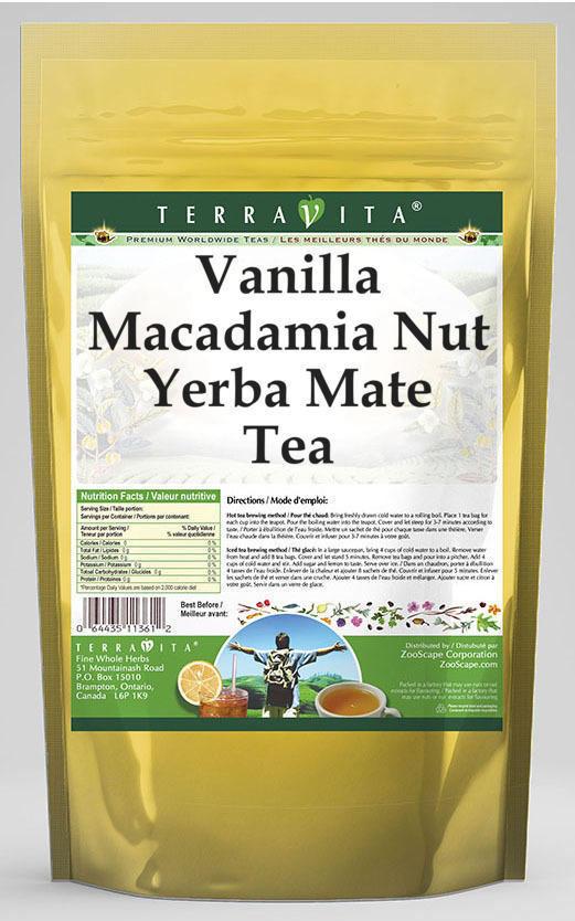Vanilla Macadamia Nut Yerba Mate Tea