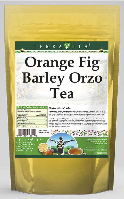 Orange Fig Barley Orzo Tea