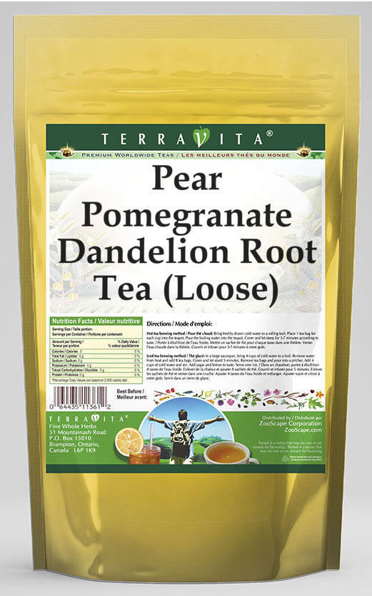 Pear Pomegranate Dandelion Root Tea (Loose)