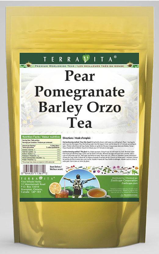 Pear Pomegranate Barley Orzo Tea